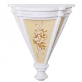 Console de mur en résine blanche étagère support - 28 cm