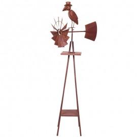GIROUETTE en fer à POSER statue corbeau - 167 cm