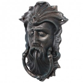 HEURTOIR de porte en fonte tête d'homme - 25 - cm