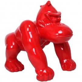 Statue donkey kong gorille singe rouge - 70 cm