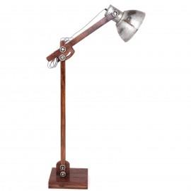 Lampadaire vintage en bois et fer réglable -162 cm