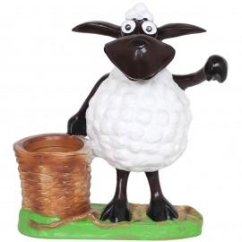 Statue mouton brebis jardinière en résine - 43 cm