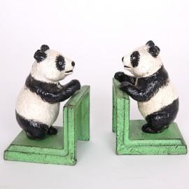 Serre-livres statue panda en fonte - 13.5 cm