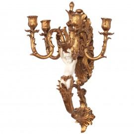 Bougeoir applique en résine statue ange candélabre torchère hauteur 50 cm