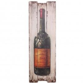 Tableau en bois (bouteille de vin) - 60 cm