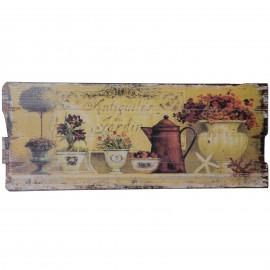 Tableau en bois (antiquités du jardin) - 100 cm