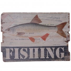 Tableau en bois (poisson gardon) - 70 cm