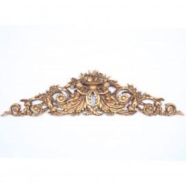 Fronton de porte doré tête de lit dessus de porte statue ange - 95 cm