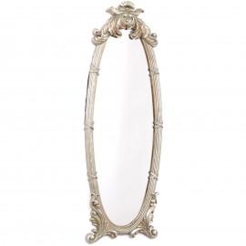 Miroir argenté en résine de style louis XVI - 85 cm