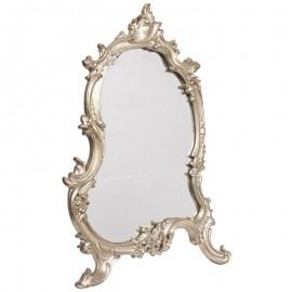 Miroir argenté a poser au a fixer de style louis XV - 56 cm