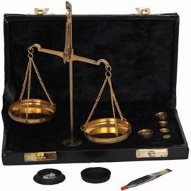 Balance trébuchet coffret noir grand modèle - 24.5 cm