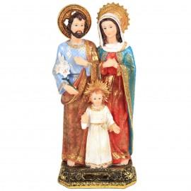 Statue la sainte famille en résine socle doré et marron - 31 cm
