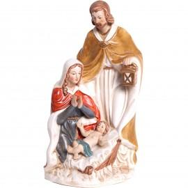 Statue en porcelaine la sainte famille - 26 cm