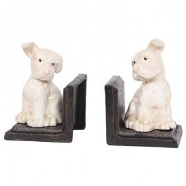 Serre-livres statue chien en fonte - 13 cm